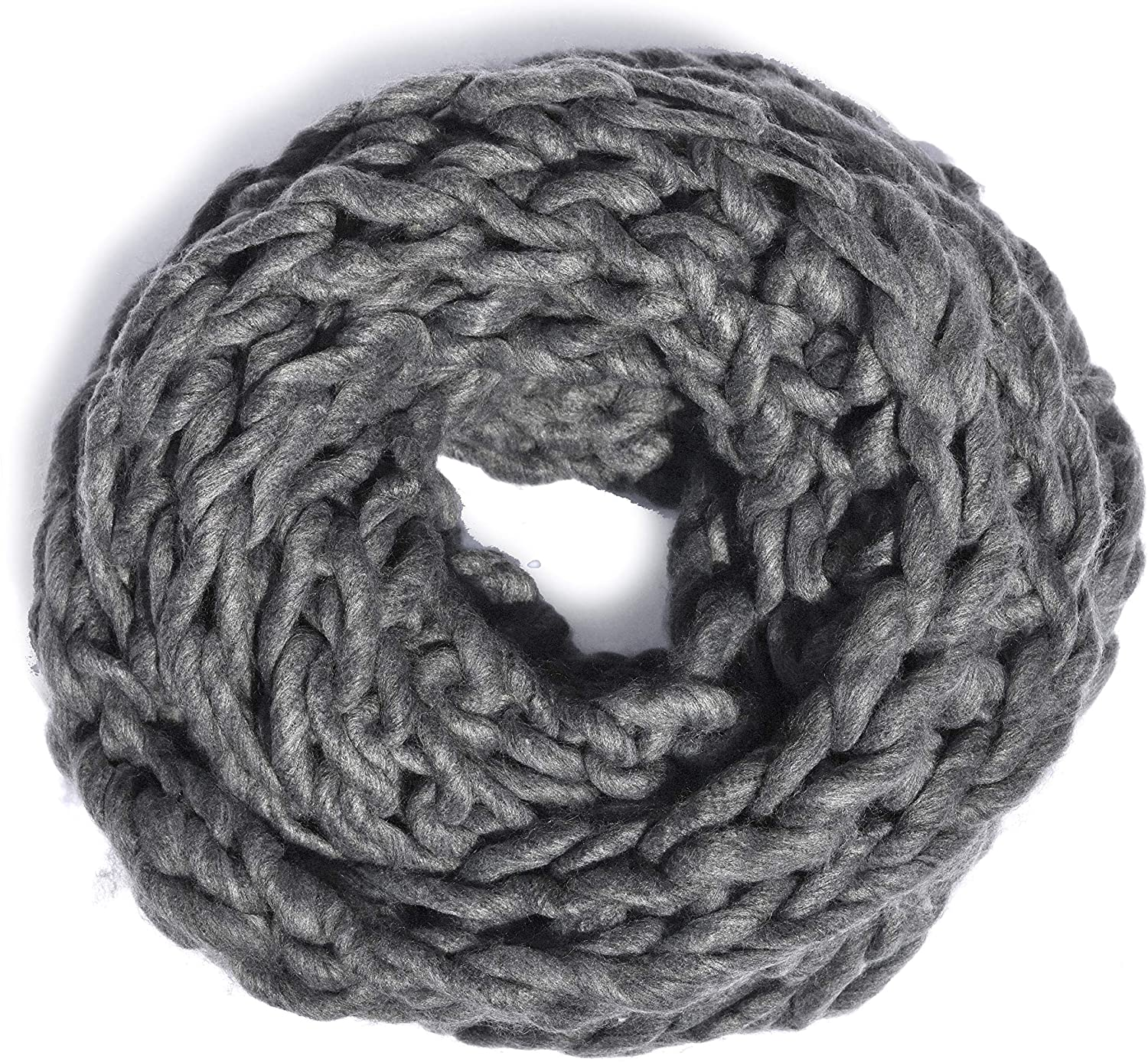 Leto Collection Soft Woven Stylish Cold Weather Warm Chunky Thick Knit Infinity Loop Scarf