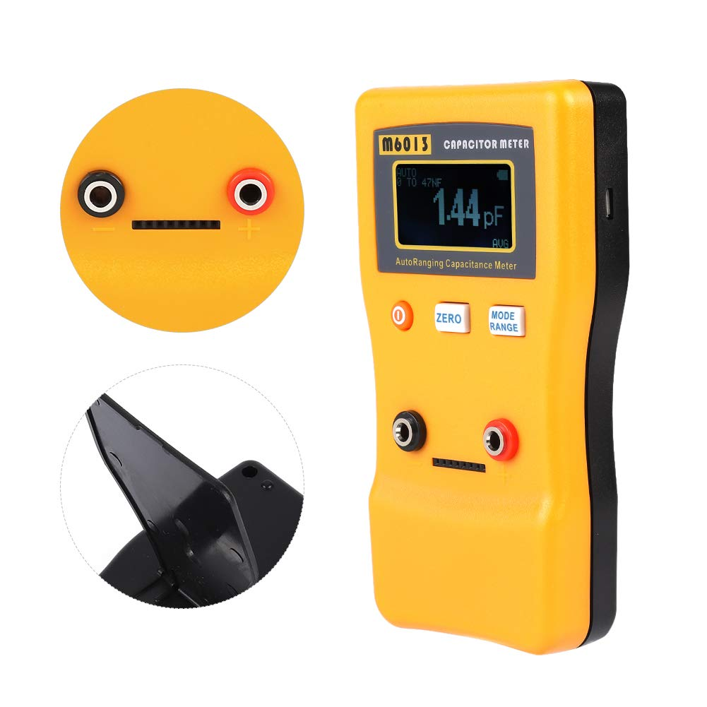 Capacitor Meter, LCD High Precision Capacitor Meter Professional Measuring Capacitance Resistance Capacitor Tester