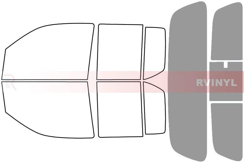Rtint Window Tint Kit for Nissan Frontier 2005-2020 (4 Door) - Rear Windshield Kit - 50%