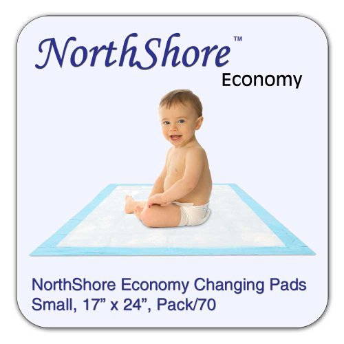 NorthShore Economy, 17 x 24, 6 oz, Changing Pads, Small, Pack/70
