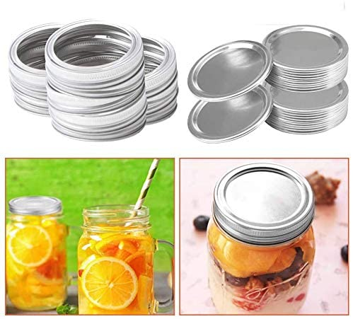 Regular Mouth Canning Jar Lids And Bands For Canning Jar Wide Mouth, Split-type Lids Leak Proof And Secure Canning Jar Caps (70MM, 10PCS)