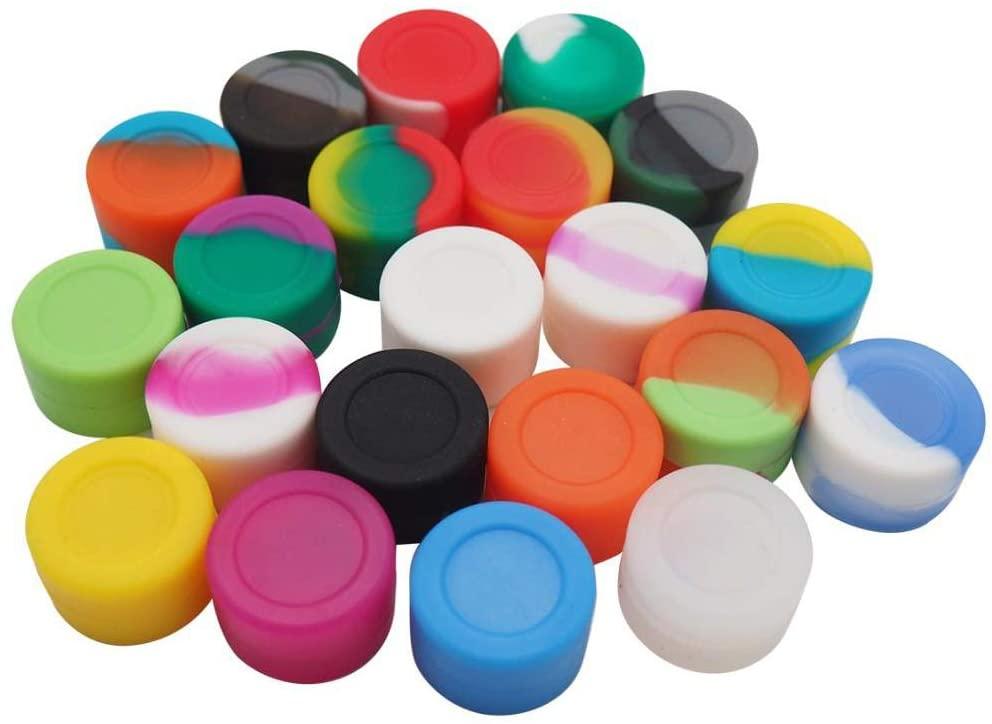 Vitakiwi 3ML Silicone Wax Concentrate Containers Non-stick Oil Jars (10)