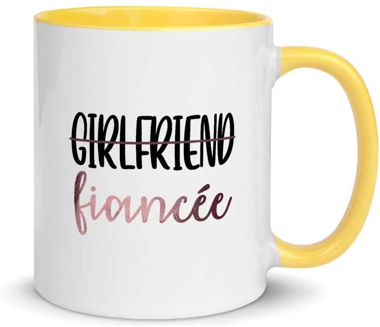 Girlfriend To Fianc�e Cute Engagement Color Coffee & Tea Mug   New Fianc�e   Newly Engaged   Engagement Gift   Future Mrs   Mrs To Be   I Said Yes   Engagement Party Mug   Bridal Shower Gift (11oz)