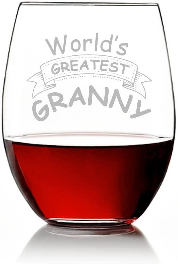 World's Best Granny Stemless Wine Glass (Set of 4)