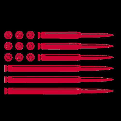 CCI Bullet Flag Premium Decal Vinyl Sticker|Cars Trucks Vans Walls Laptop| RED |5.5 x 3.25 in|CCI1215
