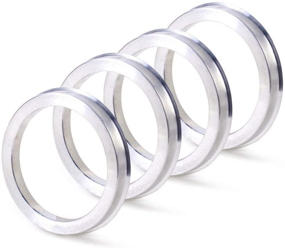 ZHTEAPR 4pc Wheel Hub Centric Rings 72.6 to 64.1 - OD=72.6mm ID=64.1mm - Aluminium Alloy Wheel Hubrings 64.1 to 72.6