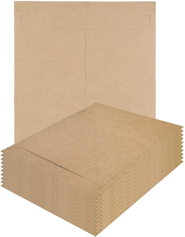 APQ Pack of 5 Kraft Rigid Mailers 18 x 24. Paperboard envelopes 18