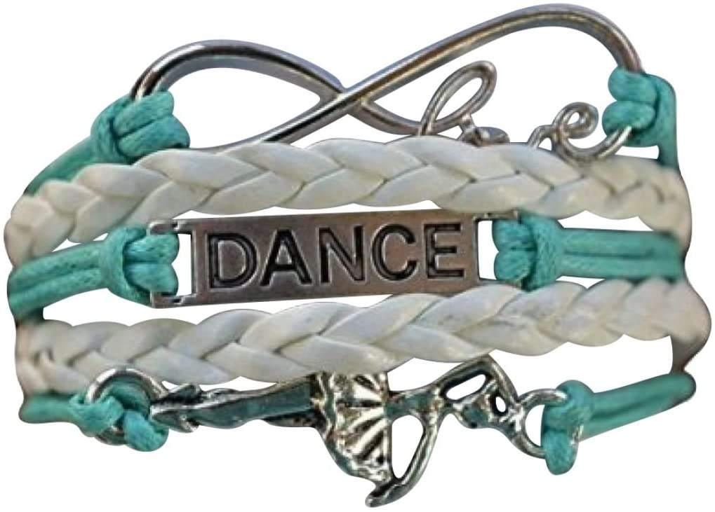 Infinity Collection Dance Bracelet- Girls Dance Jewelry for Dance Recitals, Dancers and Dance