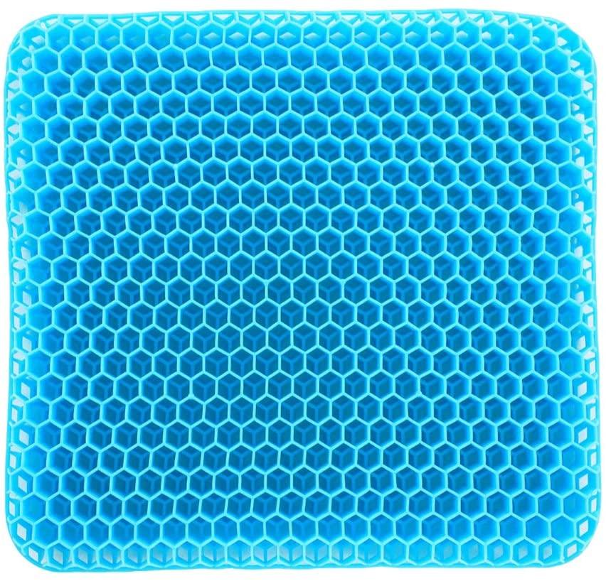 N/C AHSAIEN,Car Seat Cushion,Wheelchair Seat Cushion, Chair Seat Cushion,The Third Generation Gel Seat Cushion with Double Stereoscopic Honeycomb Gel Design (L)