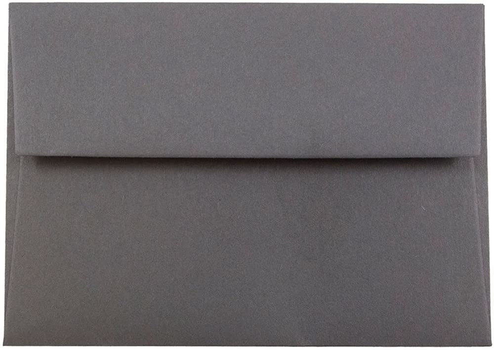 JAM PAPER 4Bar A1 Premium Invitation Envelopes - 3 5/8 x 5 1/8 - Dark Grey - 50/Pack