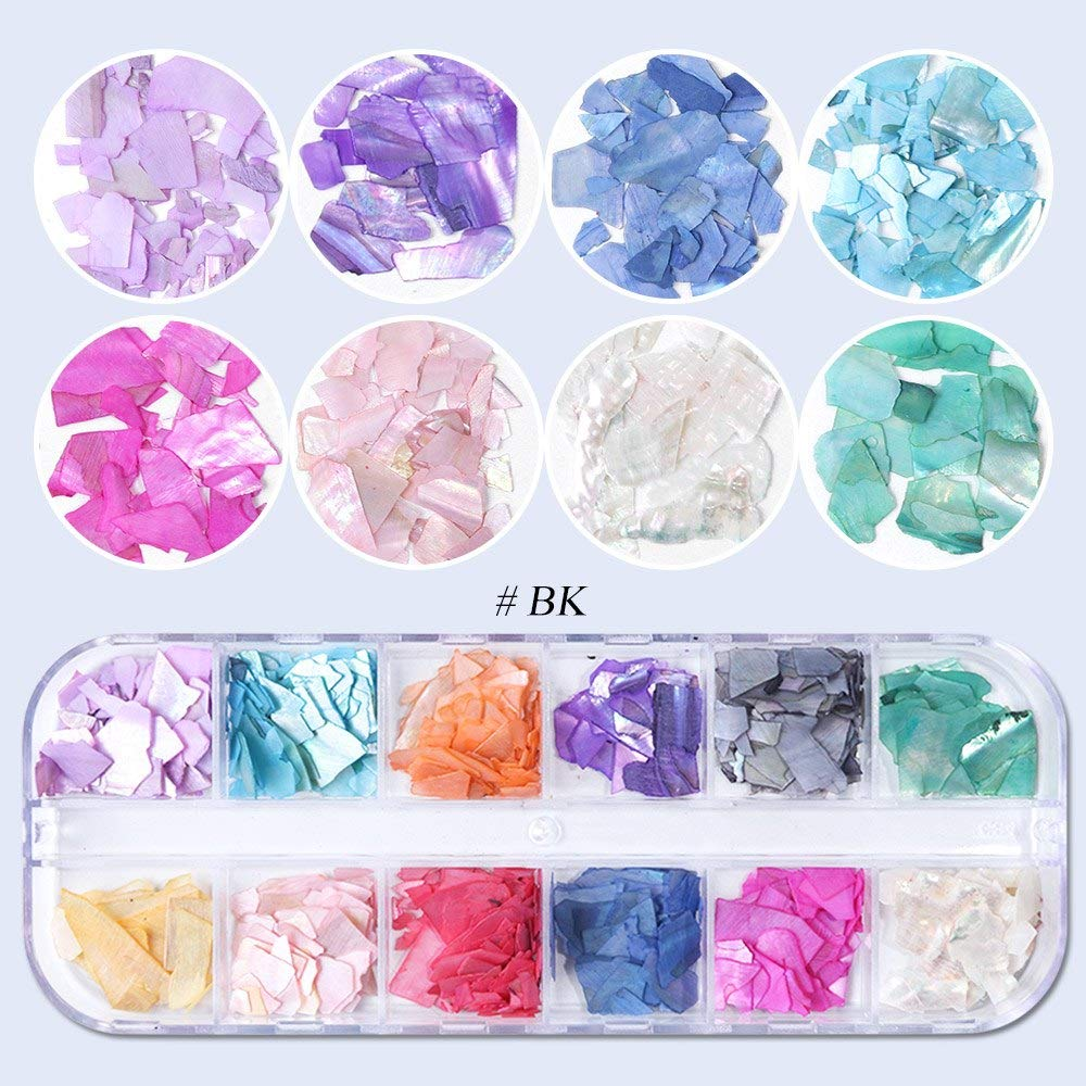 12 Grid/Set Holographic Nail Glitter Sequins Sparkly 3D Thin Butterfly Flakes Polish Decor for Nail Art Accessories (6)