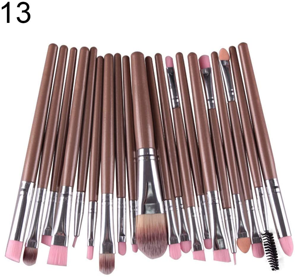 LOadSEcr 20Pcs Professional Beginners Makeup Brushes for Eyebrow Eyeshadow Beauty Tool Perfect Face Makeup Brush 13#