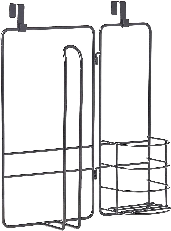 Over-The-Cabinet-Door Kitchen and Bathroom Cupboard Organizer - Black