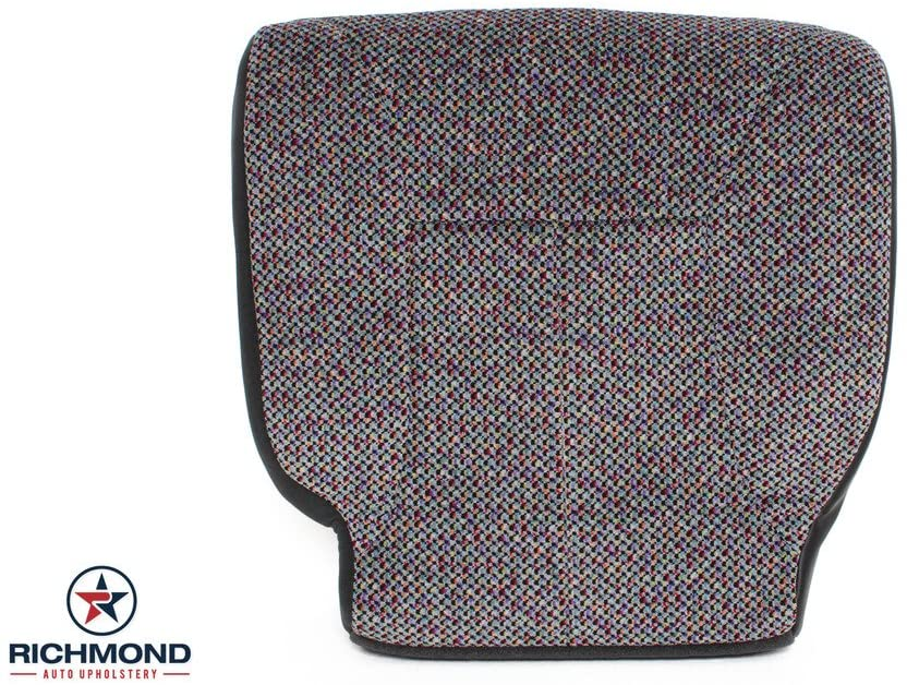 Richmond Auto Upholstery 2000 Dodge Ram 1500 Quad Cab SLT Driver Side Bottom Replacement Cloth Seat Cover, Gray