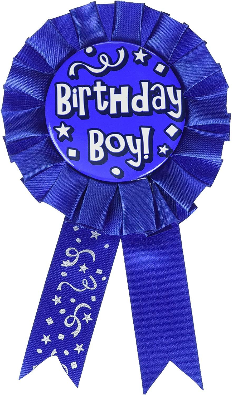 Birthday Boy Award Ribbon Party Accessory (1 count) (1/Pkg)