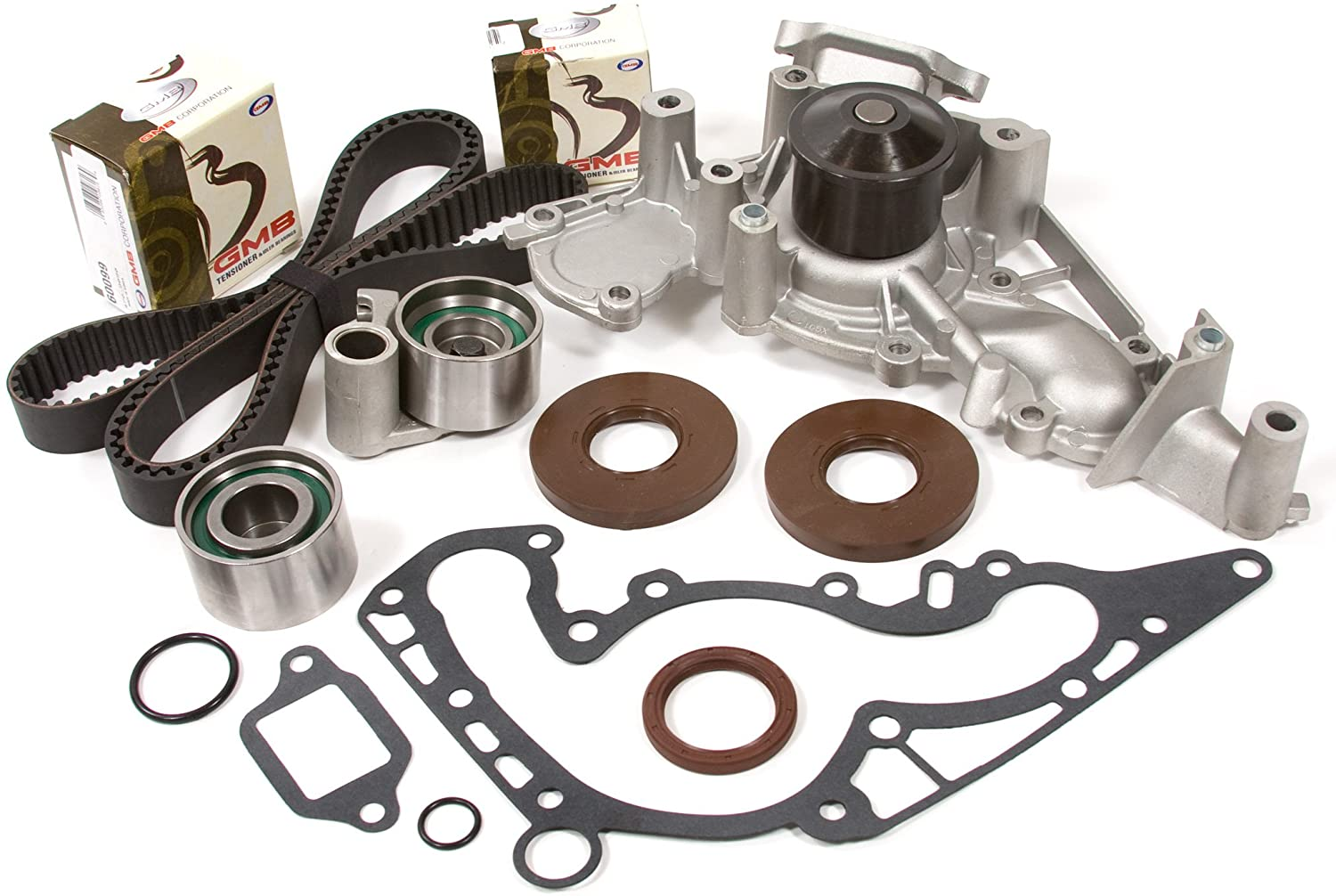 Evergreen TBK298WPT Compatible With 98-07 Lexus Toyota Tundra 4Runner Sequoia 4.7L 2UZFE Timing Belt Kit Water Pump