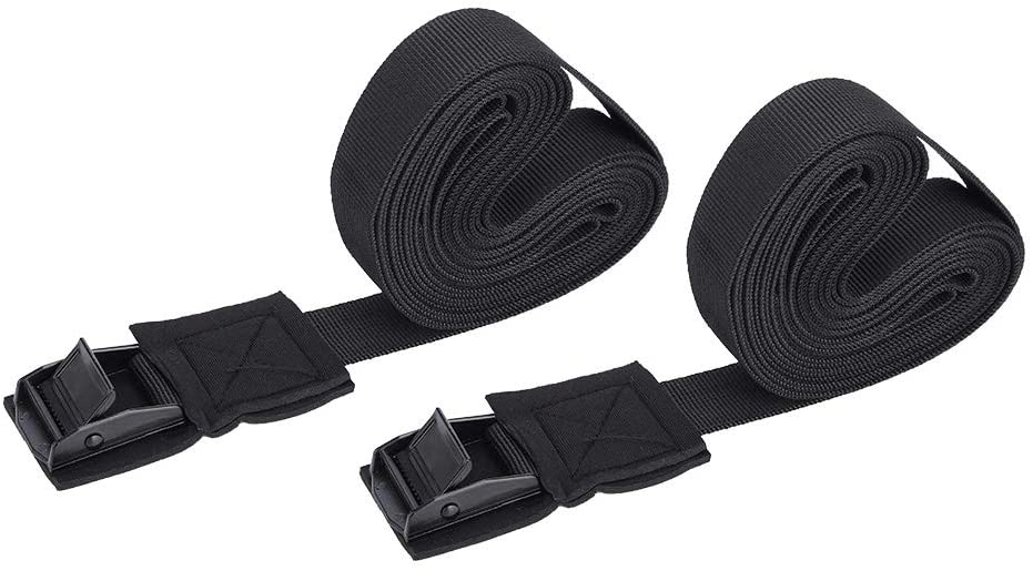Nikou Surfboard Straps Lashing Tie Firm 2pcs Kayak Roof Rack Cam Buckle Lock Tie Non-Slip for Surfboard Ski Kayak Canoe