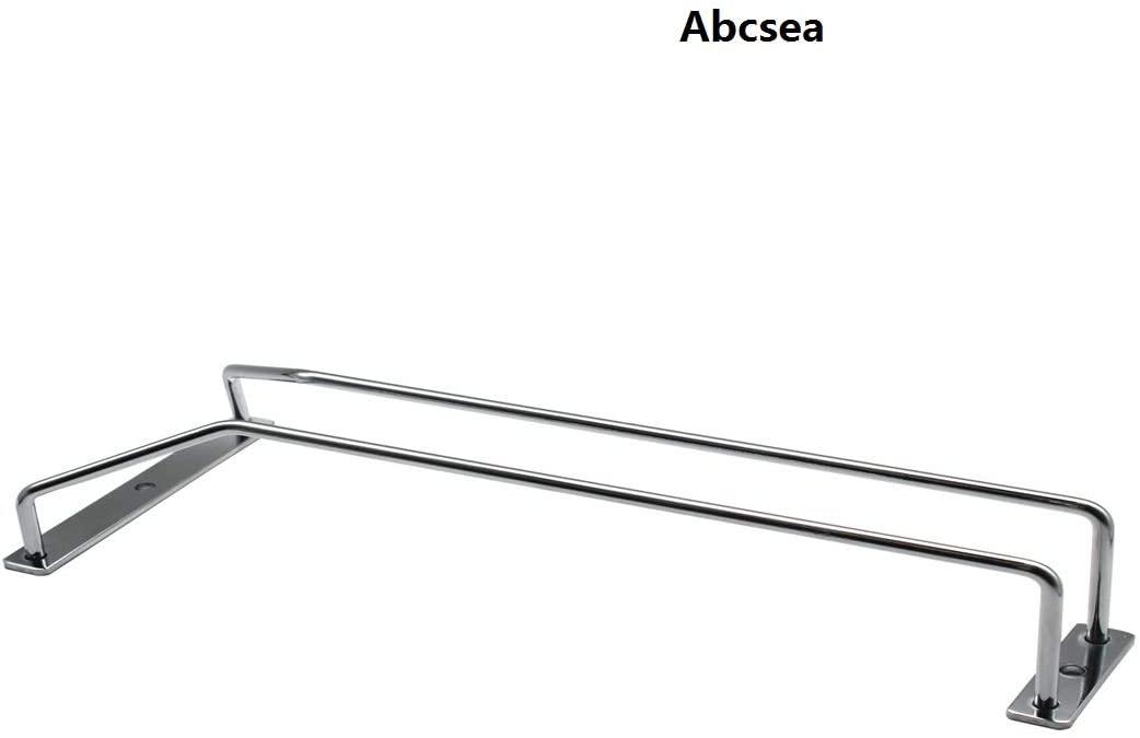 Abcsea single row wine glass rack, 35cm chrome finished wine glass holder rack for Bar or Kitchen