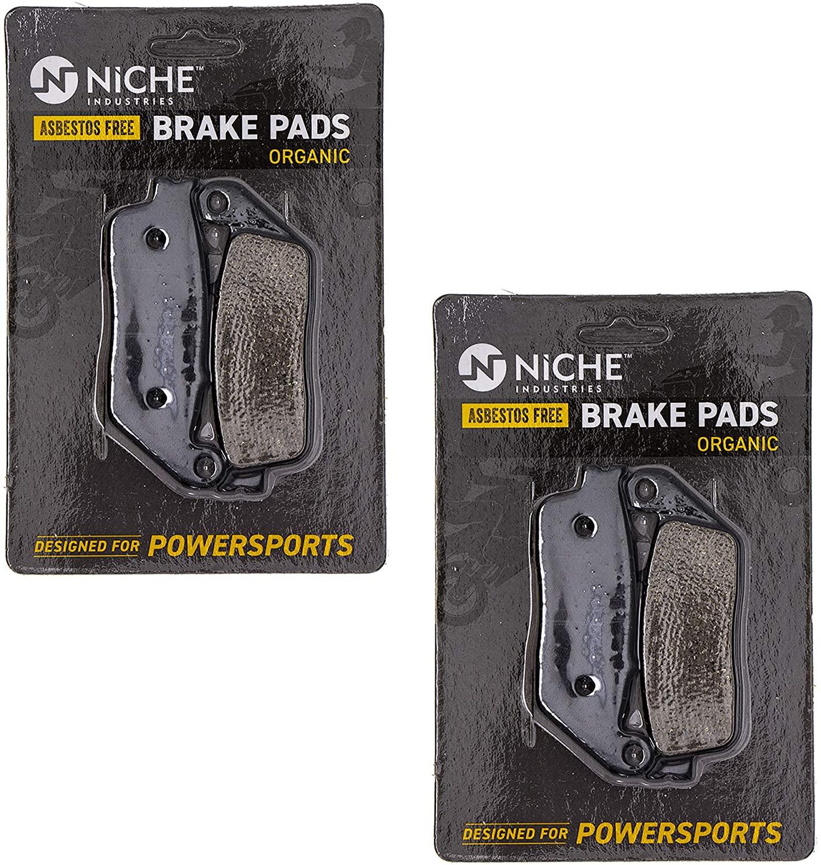 NICHE Brake Pad Set For Honda ST1100 PC800 Suzuki GSX250R Kawasaki Versys 650 Front Rear Organic 2 Pack
