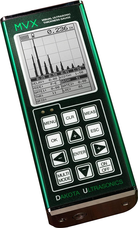 Dakota MVX Ultrasonic Thickness Gauge  with T-102-2700 probe