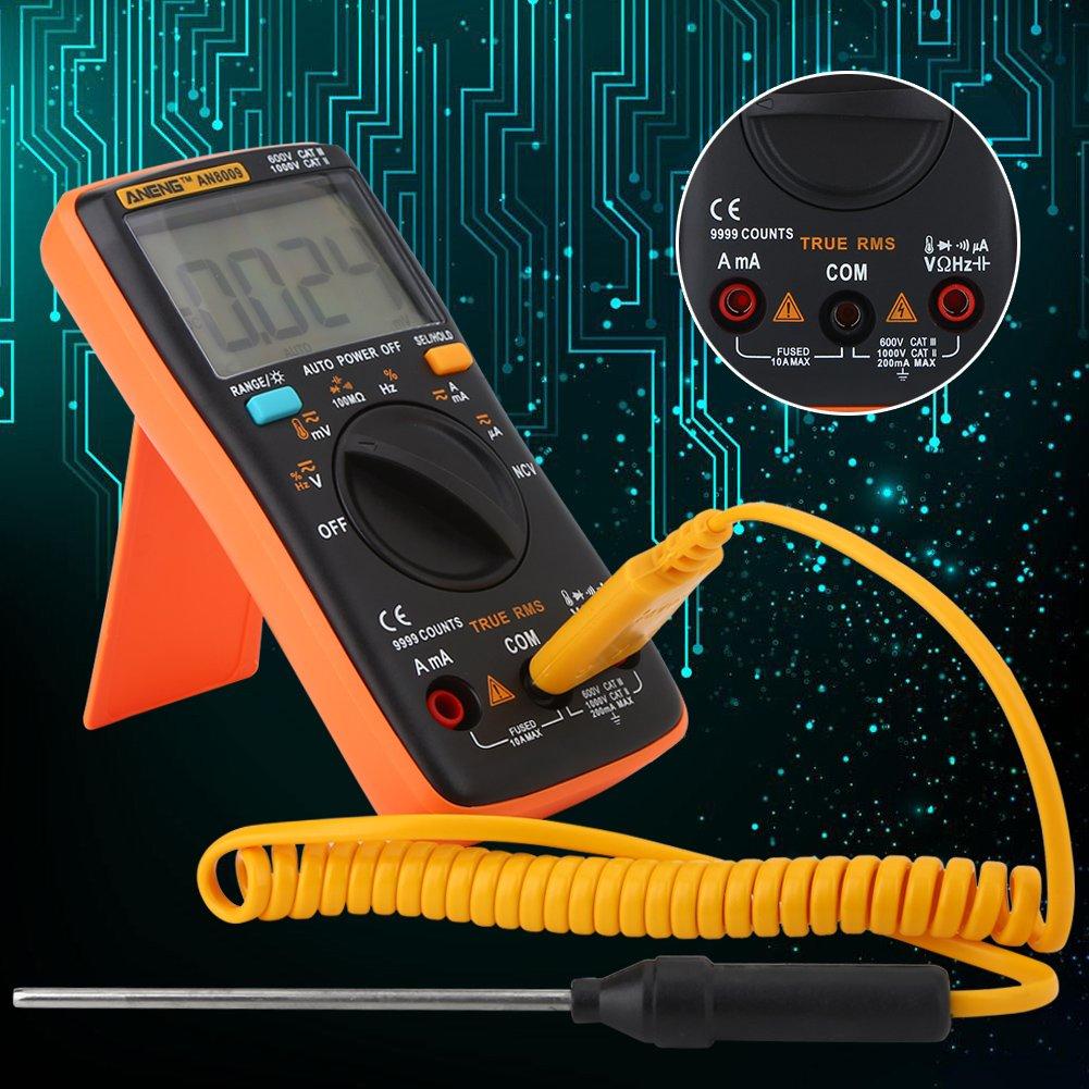 AN8009 Digital Multimeter Auto Range True RMS AC/DC Voltage Electronic Meter