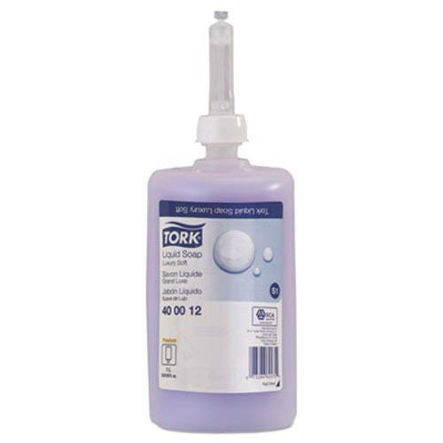 Tork 400012 Premium Luxury Soft Liquid Soap, 1 Liter Bottle, for use with Tork 570020A or 570028A,Violet