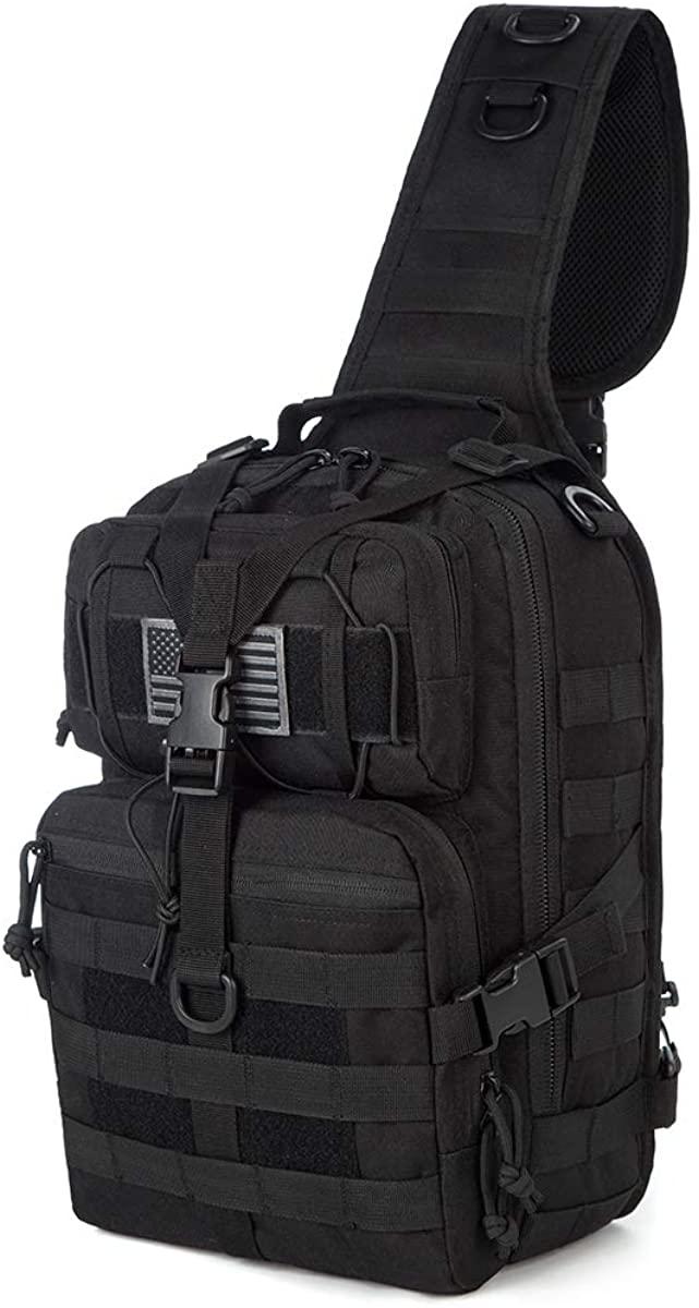 Kylebooker Tactical Sling Pack Military Rover Crossbody Backpack EDC Molle Assault Range Shoulder Bags