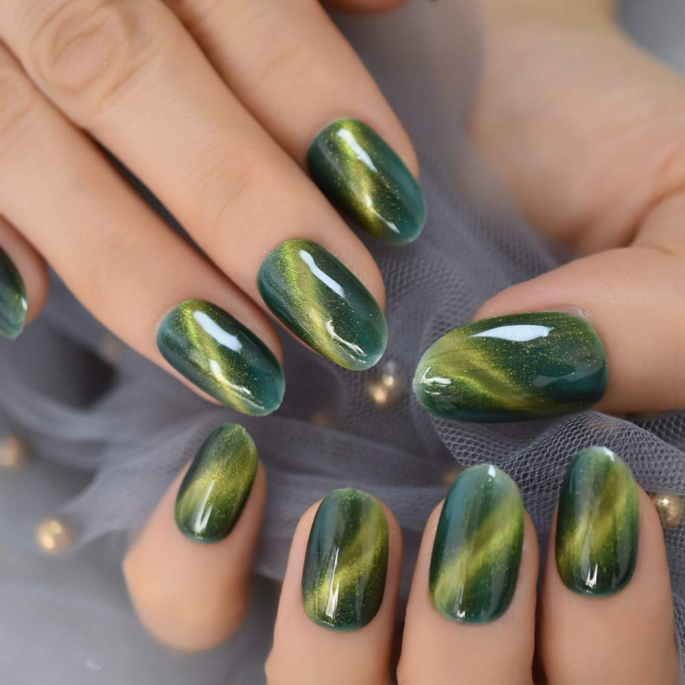 Nails Designer Extra Long Ombre French Jewelry Pre-designed Nails Natural Stiletto AB Stones Decoration Tips (43)