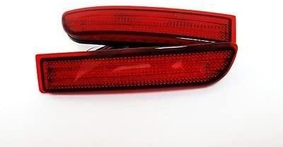 LEDIN fit Toyota RAV4 06+ Scion Red Lens LED Rear Bumper Reflector Tail Brake Stop Light 81910-13022 OEM Replacement