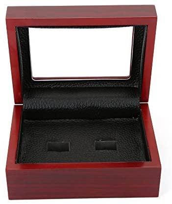 TIKIYOGI Championship Big Heavy Ring Display Wooden Box (2 Holes)