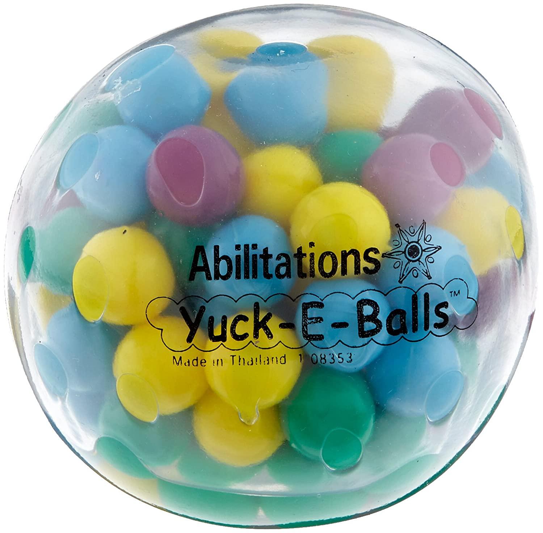 Abilitations Yuk-E-Ball Fidget, Transparent