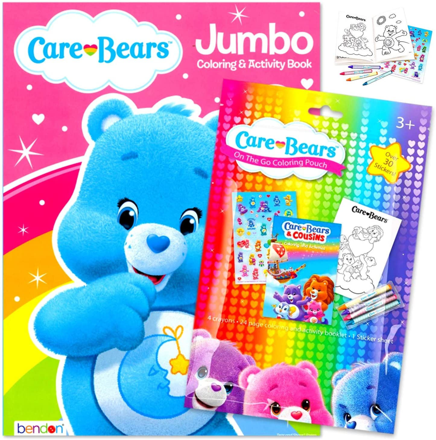 Care Bears Coloring Book Pack Bundle Includes Stickers, Crayons, and Care Bears Activity Book for Kids (Bedtime Bear)
