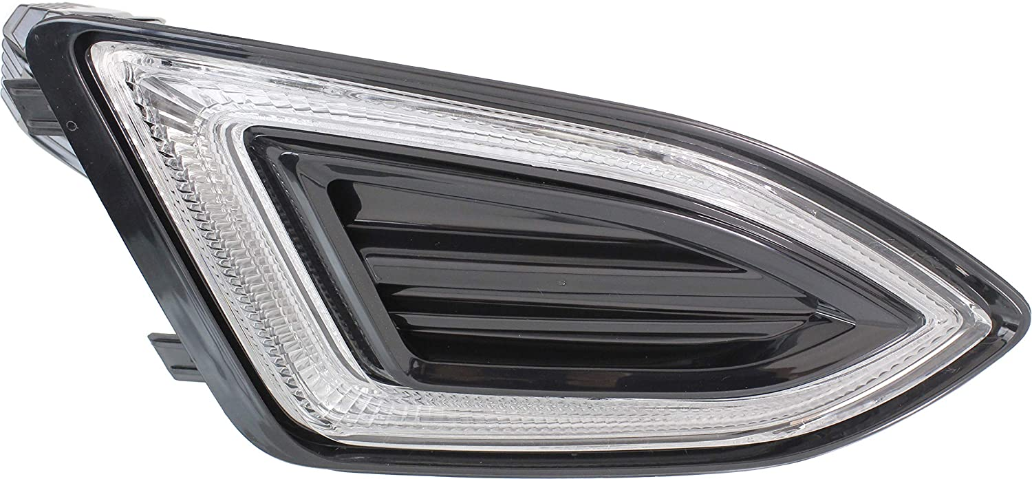 Front Fog Light Assembly Compatible with 2015-2018 Ford Edge CAPA Passenger Side