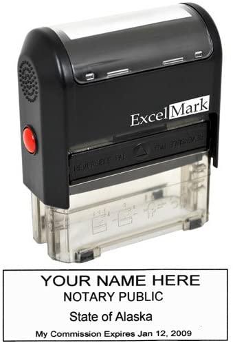 ExcelMark Self Inking Notary Stamp - Alaska