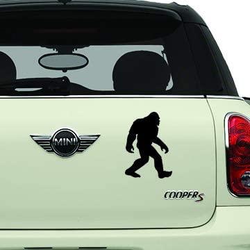 Bigfoot Black SK8/Surf/Snow/Water/Bike/Brands Automotive Decal/Bumper Sticker