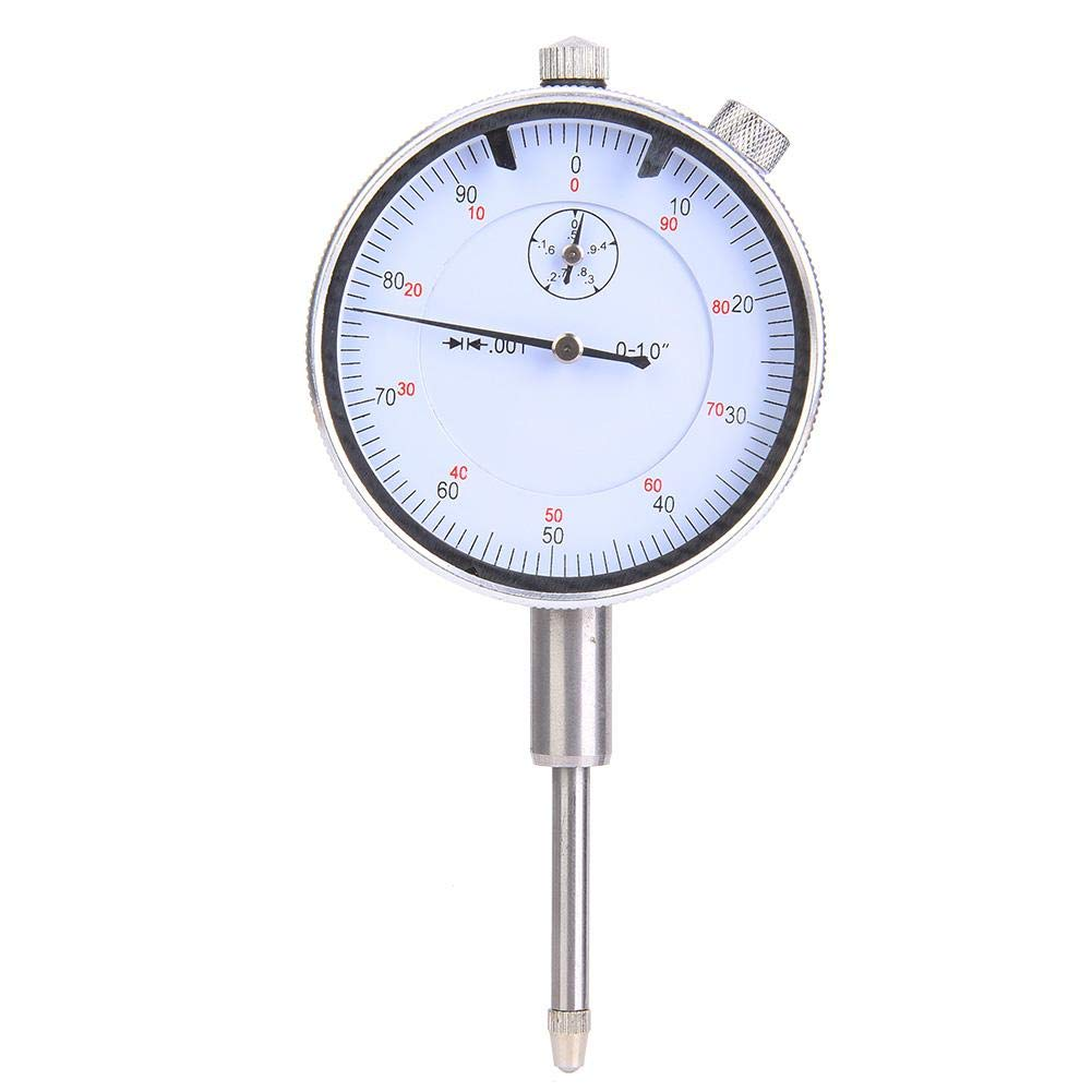 1in High Precision Dial Indicator Stainless Steel Dial Indicator Gauge 0.1in Resolution Inner Wheel Resolution 0.001in Resolution Outer Wheel Resolution