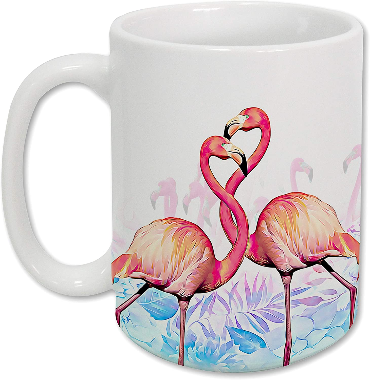 Sweet Gisele | Flamingo Mug | Ceramic Coffee Cup | Rich and Vibrant Colors | Perfect Holiday Gift | Dishwasher & Microwave Safe | Great Novelty Item Animal Mugs | 15 Fl. Oz