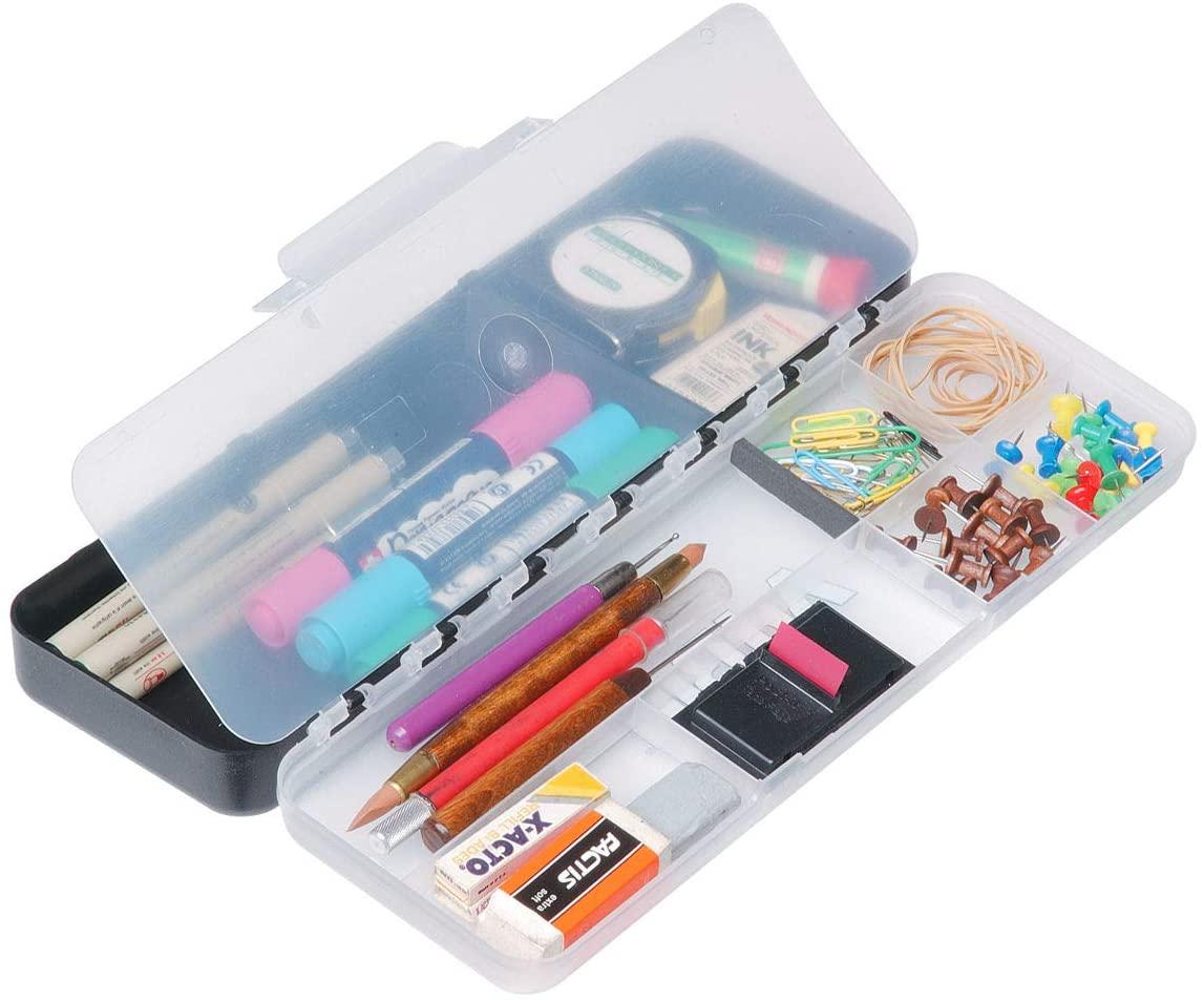 ArtBin 6880AB Sketch Pac Small Art & Craft Organizer, [1] Plastic Storage Box, Divided Translucent Lid
