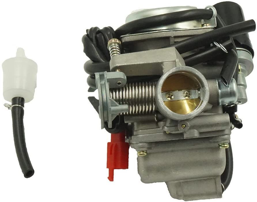 Glixal ATMT1-0741 26mm Big Bore Carburetor Carbs with Electric Choke for 157QMJ 1P57QMJ GY6 150cc Scooter ATV Go-Kart Moped