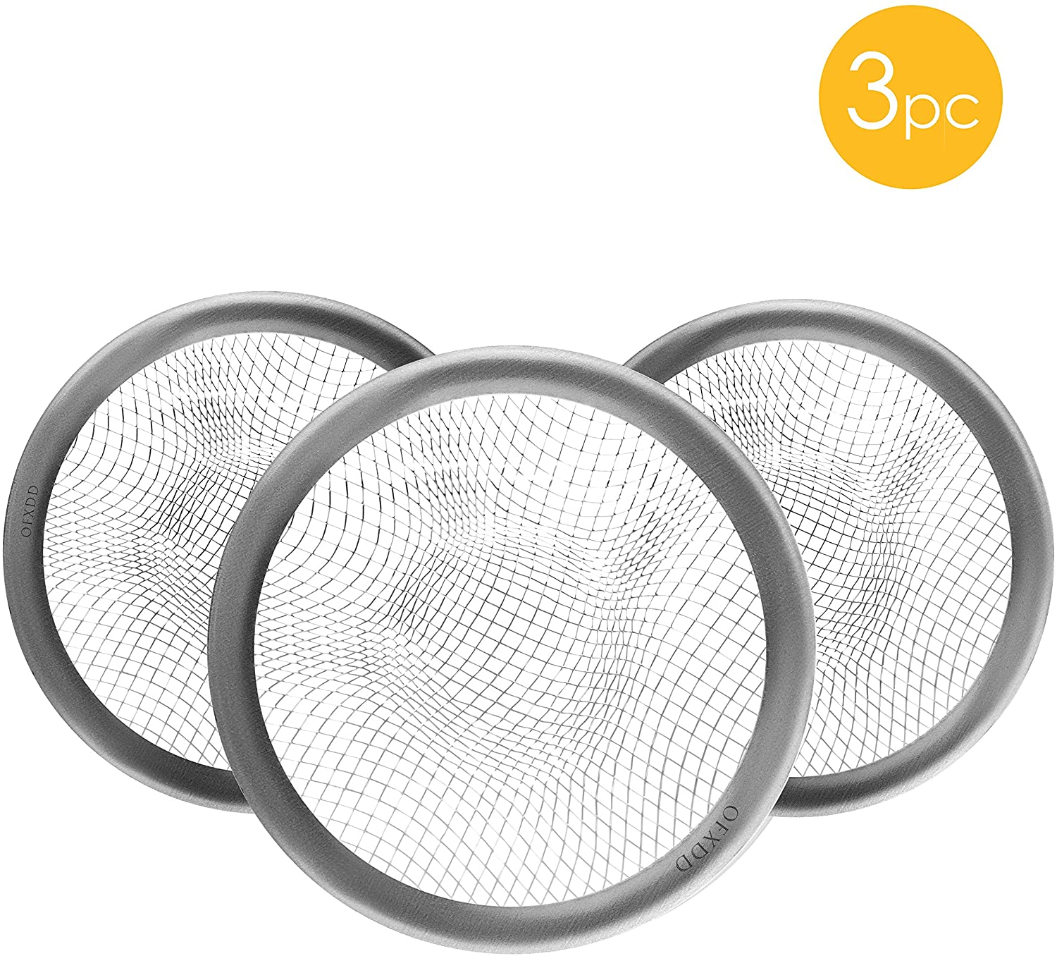 Hair Drainer Catcher Mesh, Bathroom Sink Strainer 3 Inch, Metal Drain Protector, Bath Drain Catcher, Toilet Drain Cover (Pack of 3)