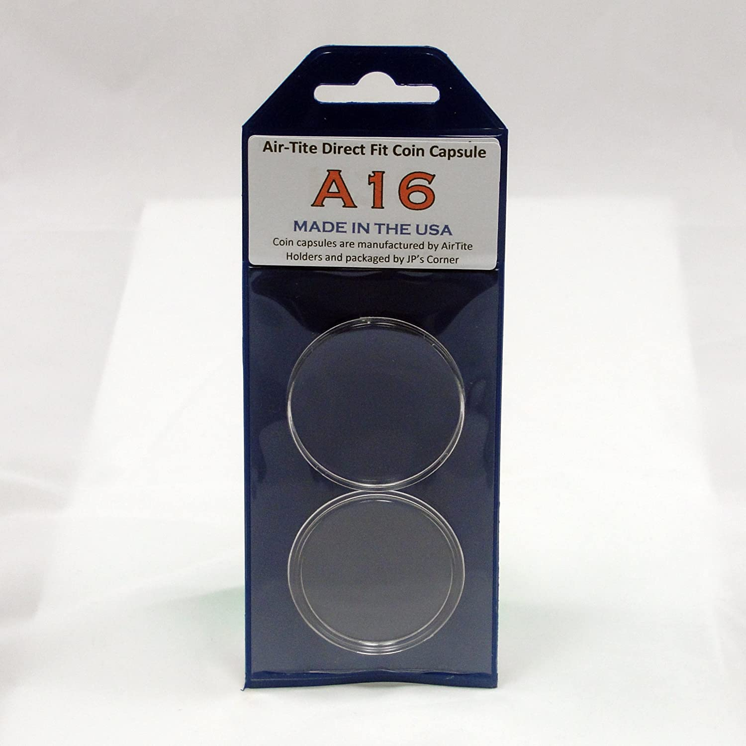 (5) Air-Tite Direct Fit Coin Capsule A16 for U.S. 1/10th oz. Gold Eagles in JP's Retail Packaging