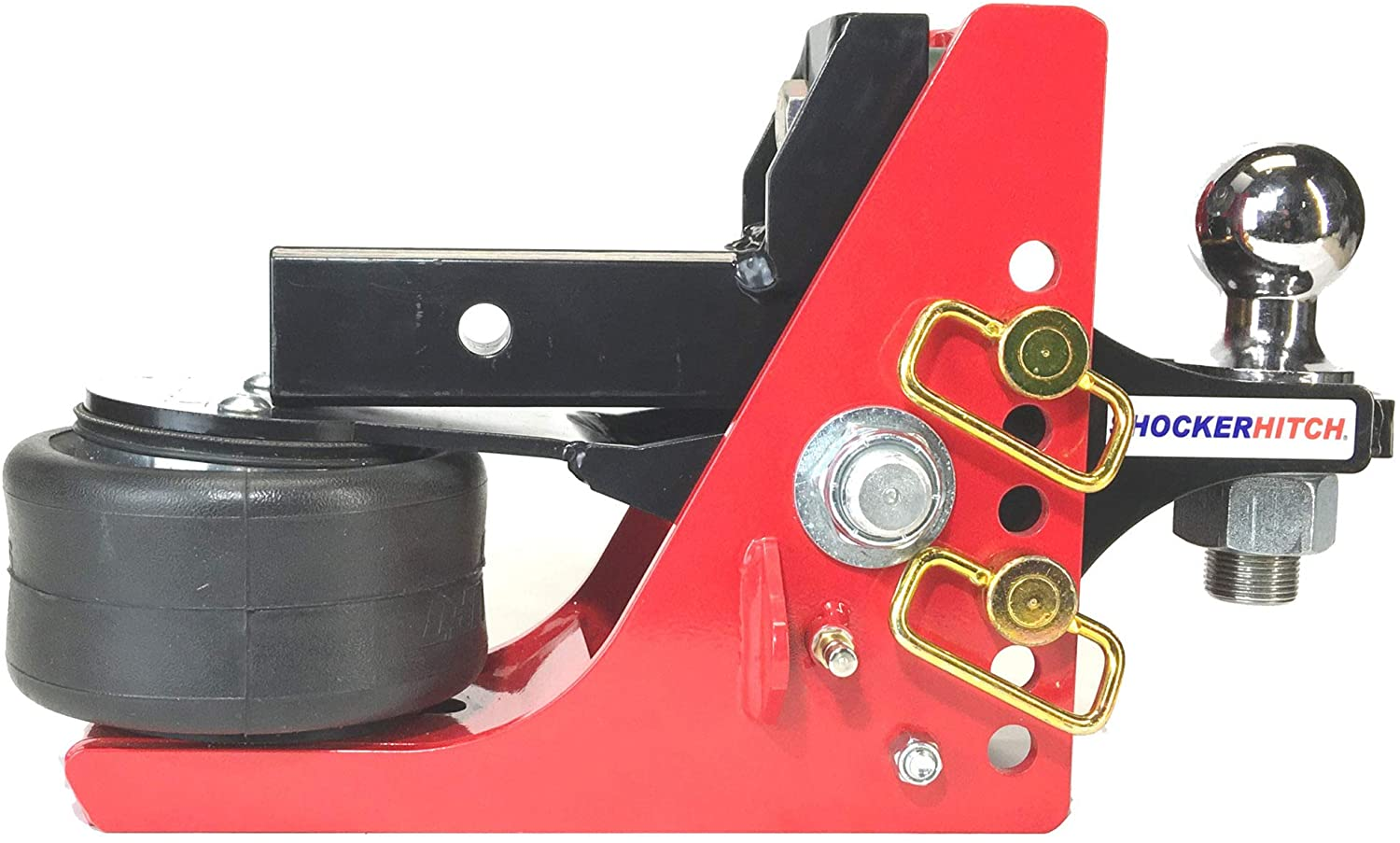 Shocker Air Receiver Hitch with Adjustable Ball Mount (1/2