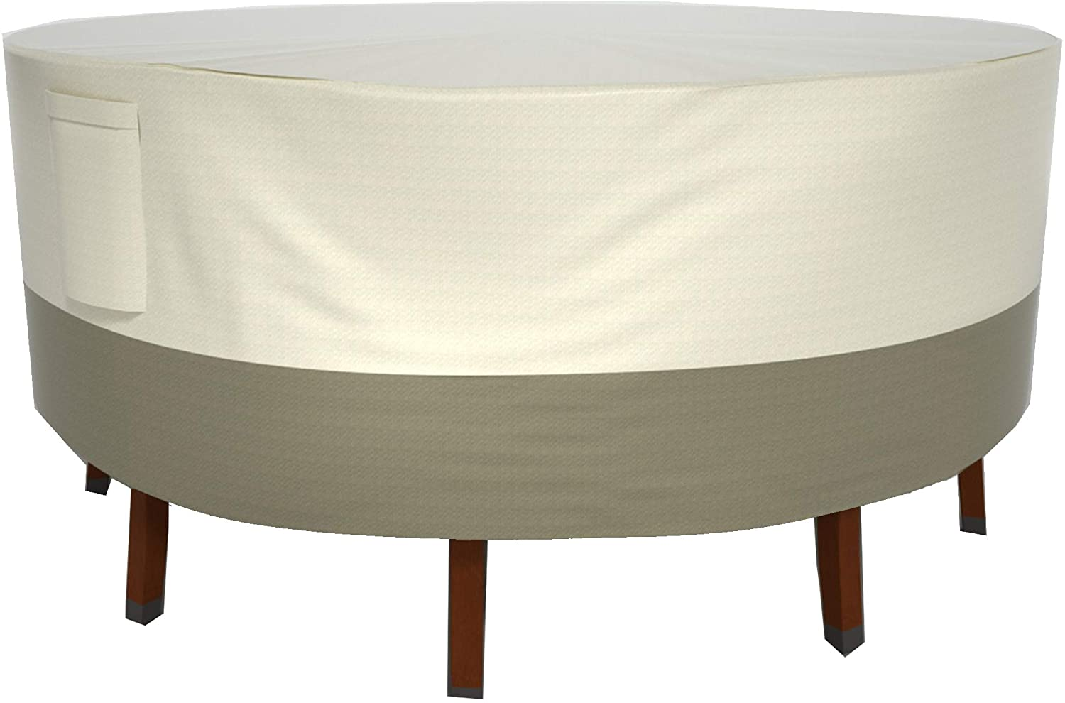 Wisteria Lane Patio Furniture Cover, Durable Waterproof Dustproof Veranda Outdoor Cover Suit for Rectangular/Round Dining Tables,94 x 28 inches,(Beige & Brown)