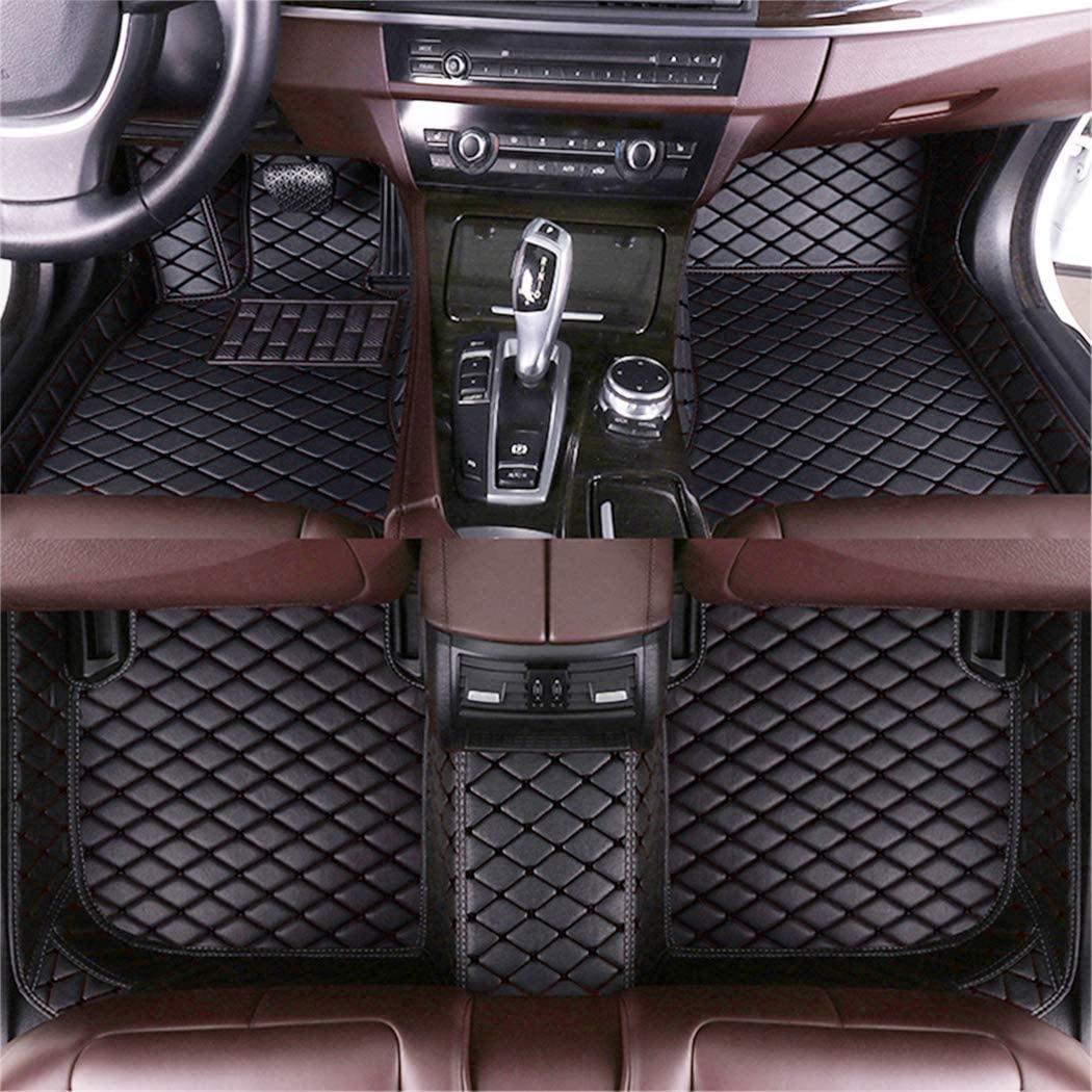 DBL Custom Car Floor Mats for Jaguar Super V8 2005-2009 Waterproof Non-Slip Leather Liners Automotive Carpets Interior Accessories Full Set (Black)