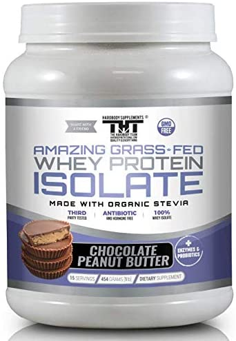 Amazing Grass Fed Whey Protein Powder. The Finest Protein Shake for Healthy Gut, Digestive Health, Optimal Absorption of Nutrients (15 Serving, Chocoalate Peanut Butter)