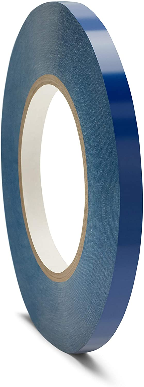 Poly Bag Sealing Tape, Blue, 3/8 Inch x 180 Yards, 12 Rolls
