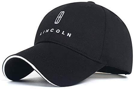 Westion Car Logo Embroidered Black Color Adjustable Baseball Caps for Men and Women Hat Travel Cap Car Racing Motor Hat (fit Lincoln)
