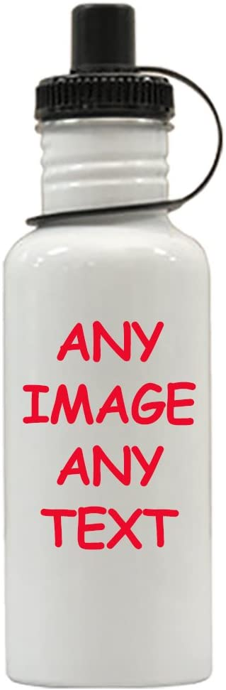 Personalized Water Bottle - Custom Water Bottle - Stainless Steel Water Bottle - Any Photo - Any Text - Any Logo -