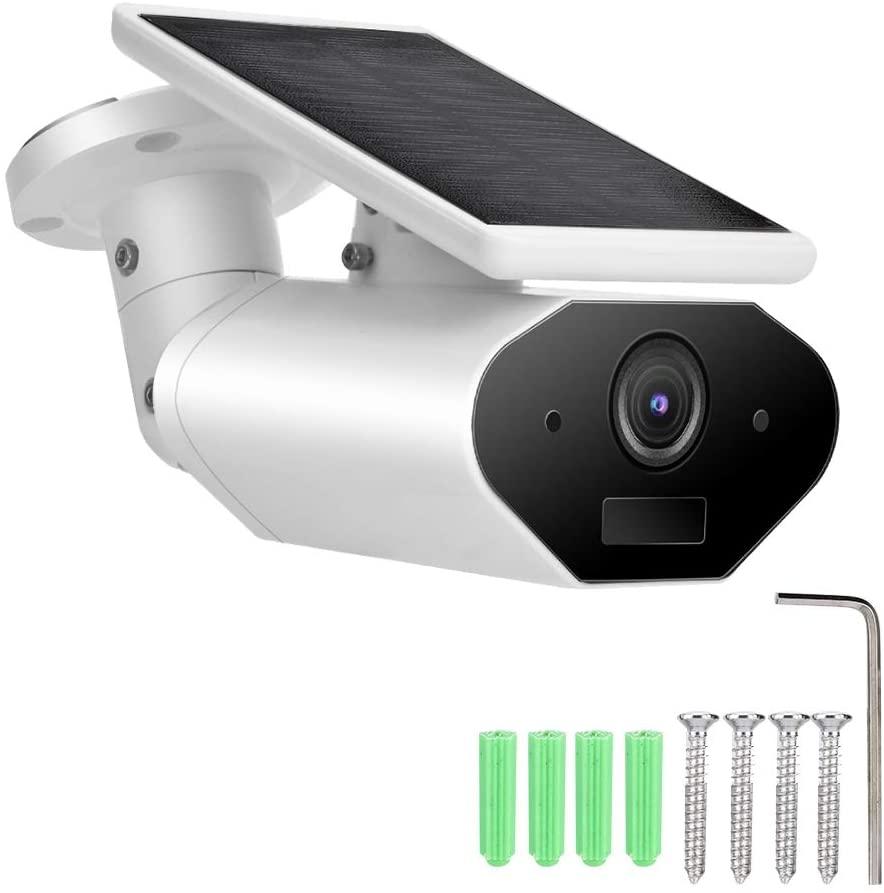 Jacksking Outdoor Camera Smart Camera, 1080P Solar Battery Powered Smart WiFi Camera Outdoor Waterproof Camcorder,Solar Camera