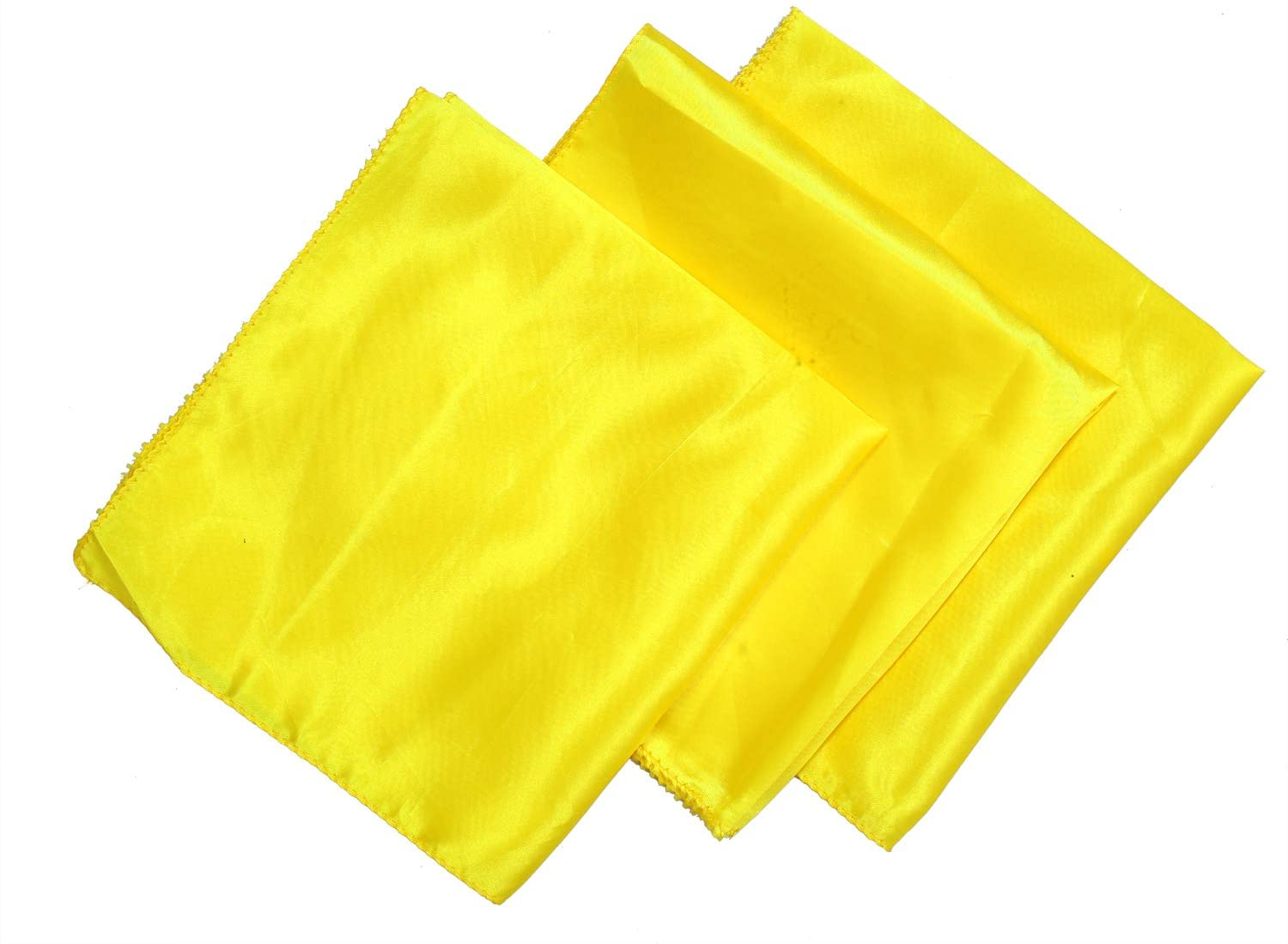 VDS Table Cloth Napkins Square Satin Dinner Napkins for Wedding Banquet Restaurants Table Decoration(12 X 12 Inch) (Pack of 25) - Yellow
